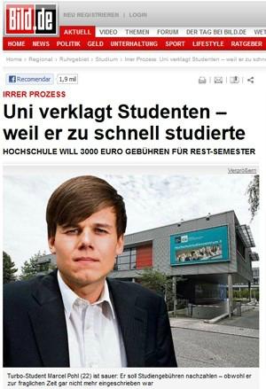 Universidade processa estudante que 'estudou rápido demais'