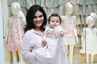 Aline Barros inaugura loja de grife infantil no Rio de Janeiro
