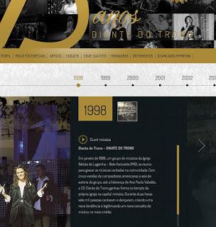 Diante do Trono inaugura hotsite comemorativo de 15 anos