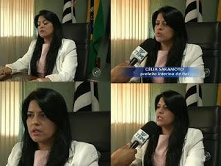 Cantora Célia Sakamoto assume cargo de  prefeita
