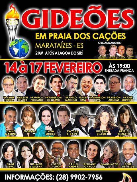 Congresso de Gideões Marataízes começa hoje