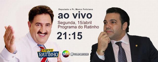 Marco Feliciano é o entrevistado de Ratinho nesta segunda