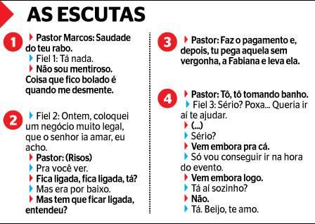 """Polícia flagra conversas """"picantes"""" do Pastor Marcos com fiel de sua igreja"""