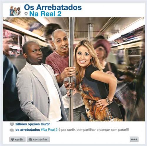 """Capa do novo Cd dos Arrebatados não agrada, e fãs comparam com """"Metrô do Zorra Total"""""""