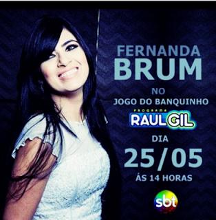 Fernanda Brum e PG gravam participação no Programa Raul Gil