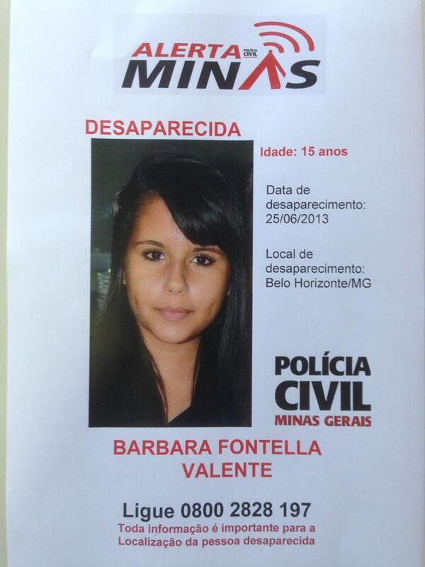 Campanha no twitter promove busca a jovem desaparecida