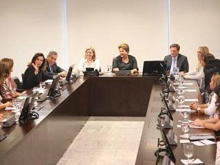 Presidente Dilma recebeu cantoras gospel no Palácio do Planalto