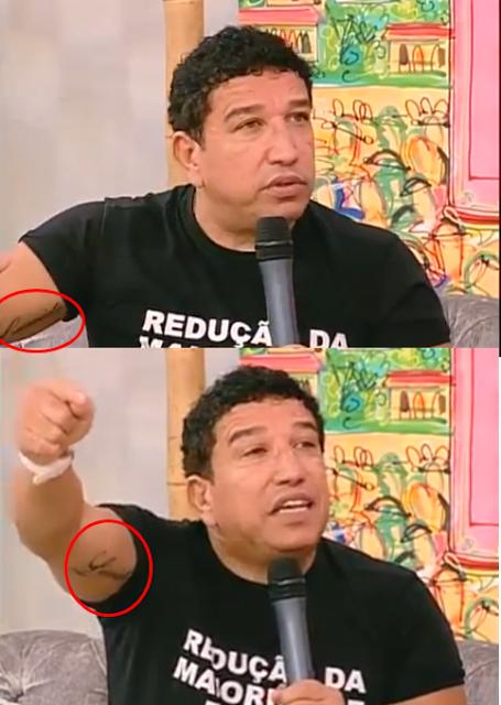 Magno Malta tatua o nome da Lauriete no braço e causa polêmica