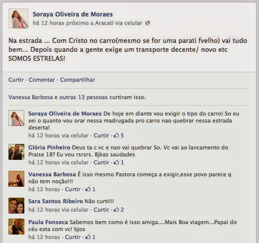 Soraya Moraes tem ataque de estrelismo e desabafa no Facebook