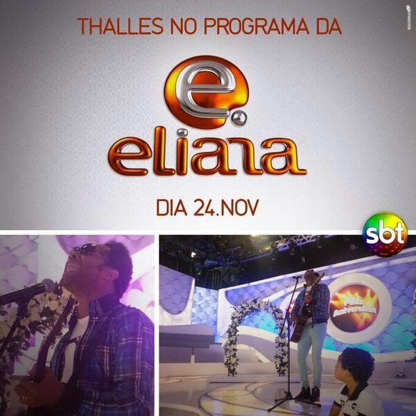 Thalles Roberto grava participação no Programa da Eliana