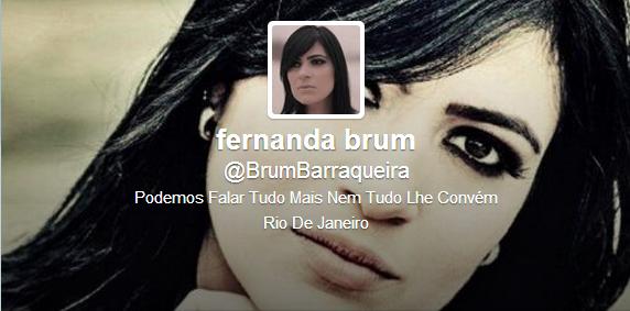 Fernanda Brum ganha perfil no Twitter que a chama de Barraqueira