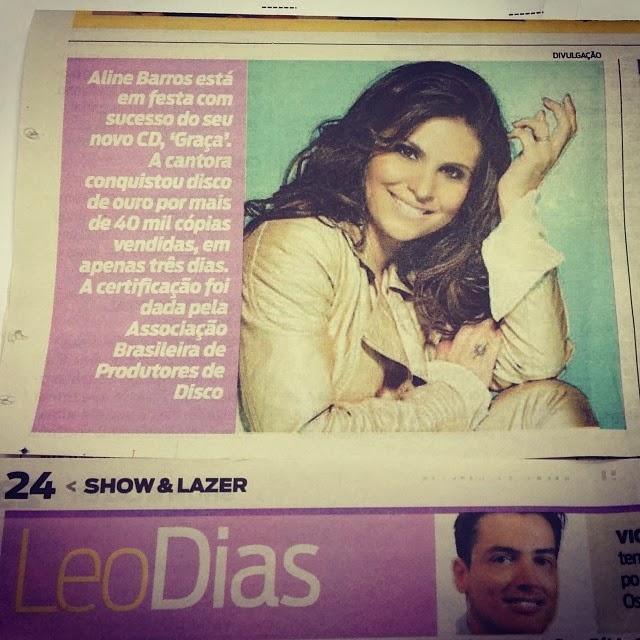 Novo CD de Aline Barros vende 40 mil cópias em 3 dias