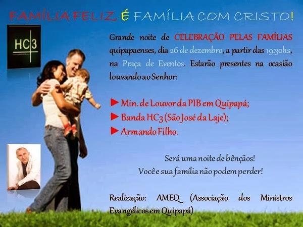 Cidade no interior de Pernambuco terá evento voltado para a familia