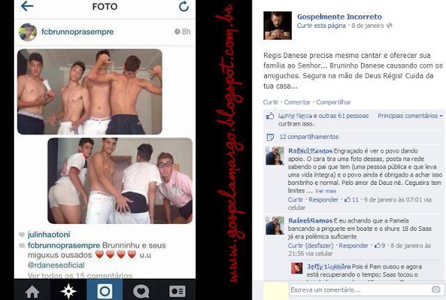 Vaza foto intima do Filho de Regis Danese em poses sensuais com amigos