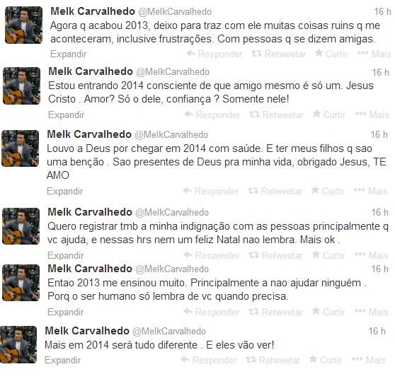 Melk Carvalhedo promete vingança aos seus inimigos em 2014