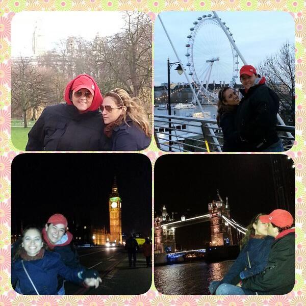 Lanna Holder e Rosania Rocha passam lua de mel na Europa