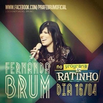 Fernanda Brum estará no Boteco do Ratinho