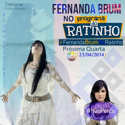 """Participação de Fernanda Brum no """"Ratinho"""" é adiada"""