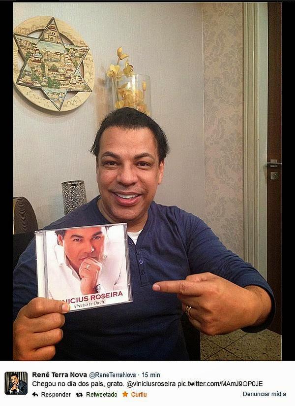 De René a Toquinho - CD de Vinicius Roseira faz sucesso entre gospel e sécular