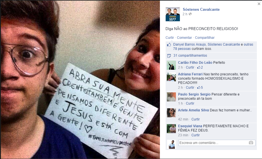 Pr. Sostenes Cavalcante lança campanha contra o preconceito religioso