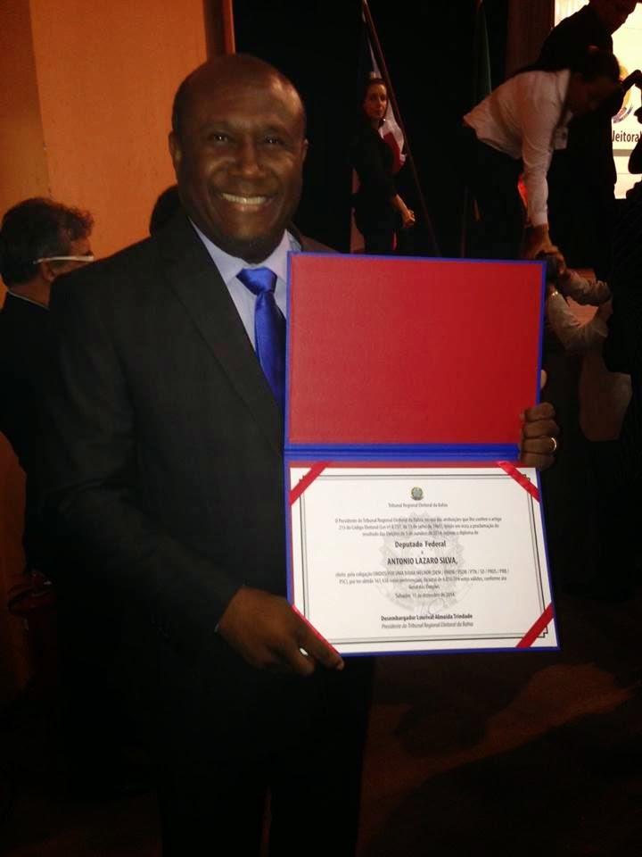 Irmão Lázaro é diplomado Deputado Federal