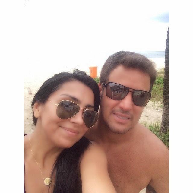 Eyshila e o esposo vão a praia, e postam foto nas redes sociais