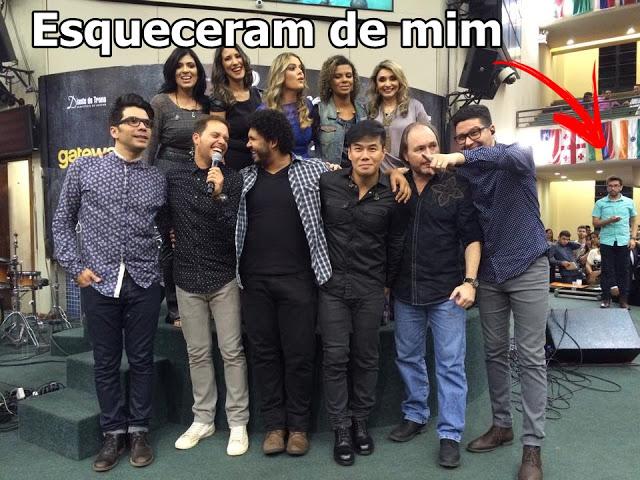 Varios artistas da musica gospel e o esposo de Fernanda brum ao lado