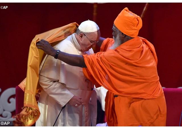 Papa francisco pede a união das religiões