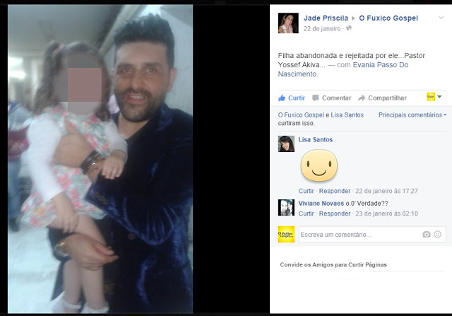 Denúncia: Pr. Youssef Akiva pode ter abandonado filha