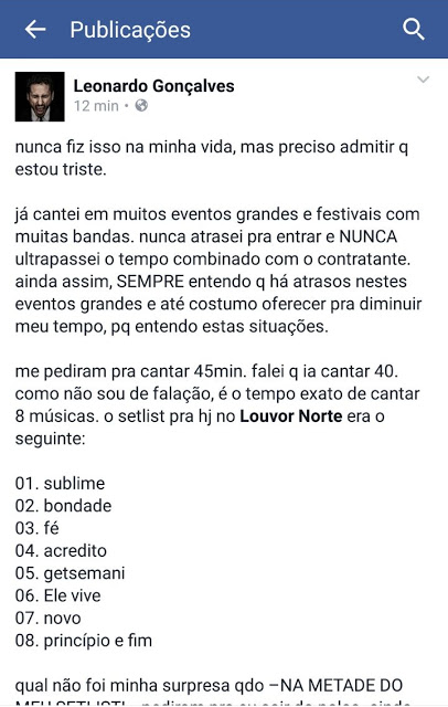 Musica gospel | Leonardo Gonçalves é tirado do palco no meio do show no  Louvor Norte
