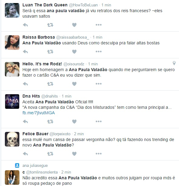 """Ana Paula valadão é """"massacrada"""" no Twitter"""