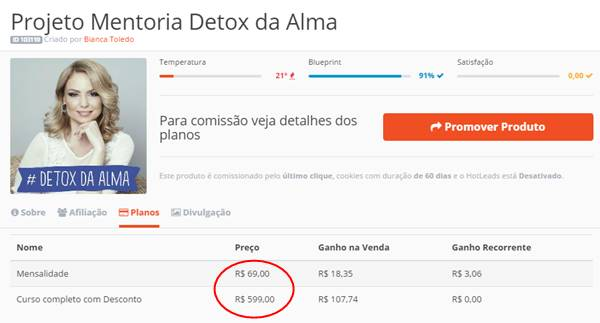 projeto Detox Da Alma de Bianca Toledo