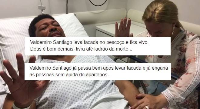 Internautas comemoram crime contra Valdemiro Santiago no Twitter