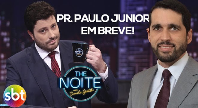 Pastor Paulo Junior no programa The Noite do SBT