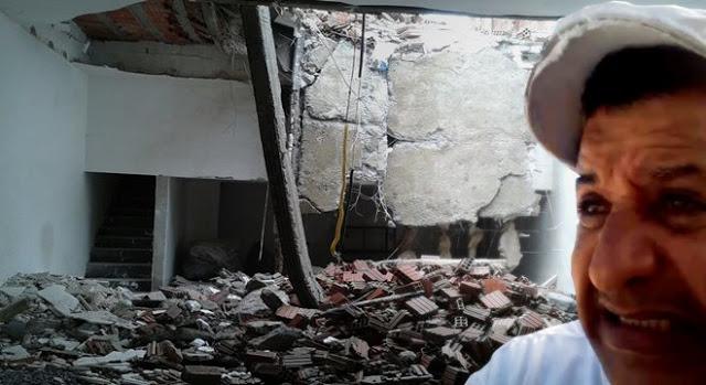 Abílio Santana escapa da morte após teto da igreja desabar