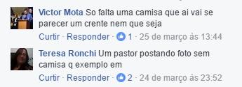 Pastor Lucinho Barreto sem camisa | Comentário