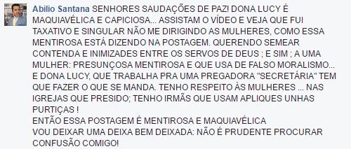 Abílio Santana ameaça secretária de Isa Reis