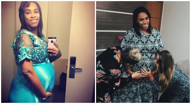 Grávida de gêmeos, Elaine Martins celebra o 5º mês de gestação