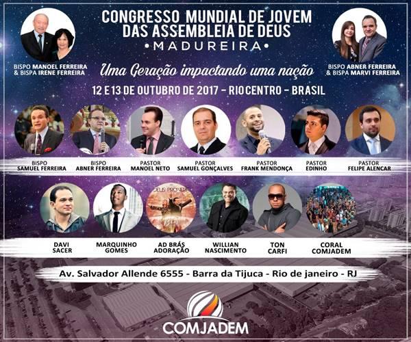 Saiba tudo sobre o Congresso Mundial de Jovens Madureira 2017 (COMJADEM)