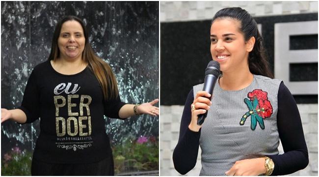 Pra. Helena Raquel e a missionária Camila Barros