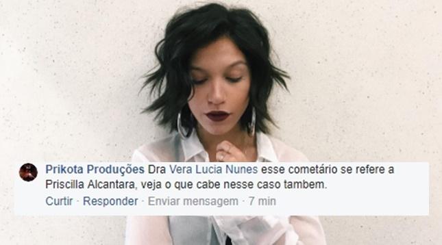 """Assessoria de Priscila Alcântara ameaça processar quem a chamou de """"Lésbica e drogada"""""""