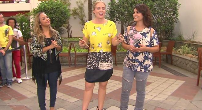 Bruna Karla, Aline Barros e Angélica. (Reprodução)