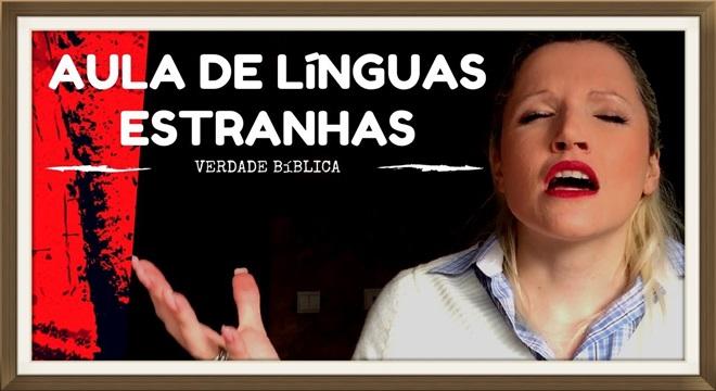 Youtuber cristã da aula de línguas estranhas em vídeo