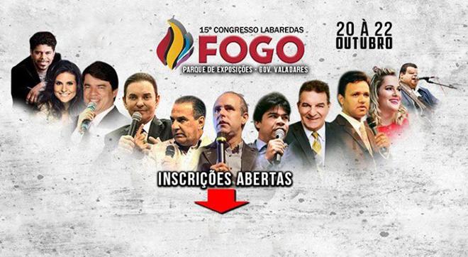 Wesley Ros, Aline Barros e Samuel Mariano, estarão no Labaredas de Fogo em GV