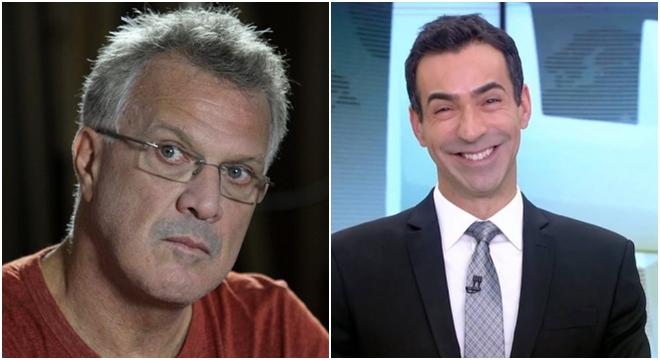 Cesar Tralli faz Bial passar vergonha por não crer em Deus