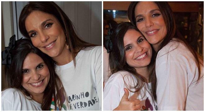 Aline Barros quebra o protocolo e abençoa as filhas de Ivete Sangalo