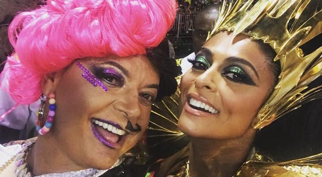 Cantora gospel curte foto de Juliana Paes e David Brazil no carnaval