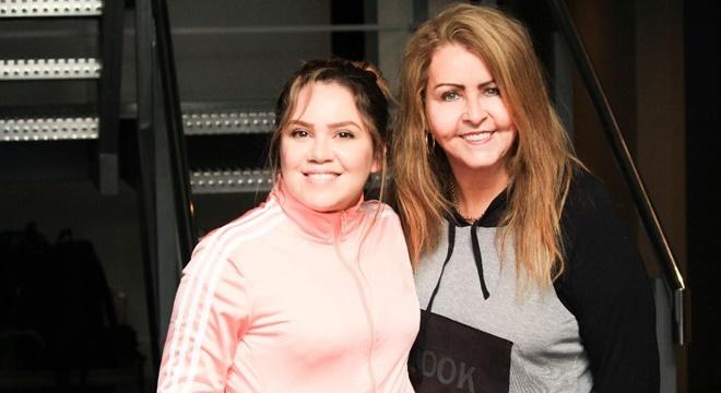 Sarah Farias e Shirley Carvalhaes