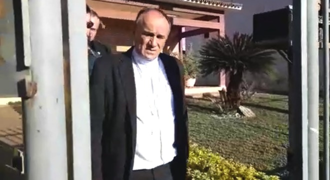 Bispo de Formosa, Dom José Ronaldo, foi preso durante operação do MP (Foto: Reprodução)