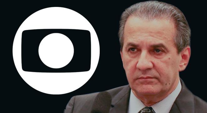 Pastor Silas Malafaia e logo da rede Globo